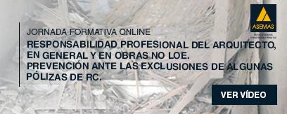 """""""RC del Arquitecto, en general y en obras no LOE. Prevención ante las exclusiones de algunas pólizas de RC""""."""